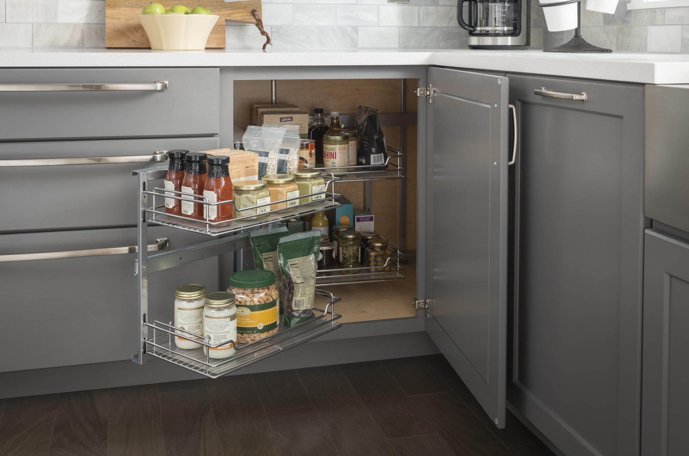 Hardware Resources Optimizes Corner Storage With New Sliding Door Corner Organizer Kbis