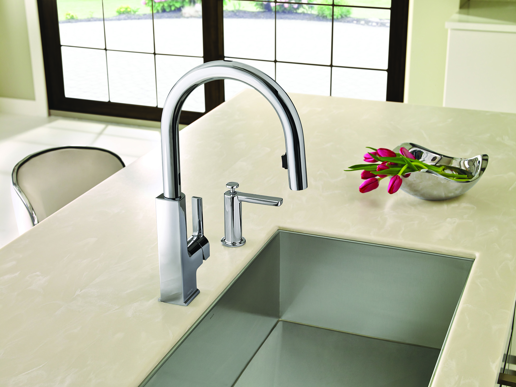 Why Touch Your Kitchen Faucet When You Don T Have To Moen Expands Popular Hands Free Motionsense Technology Kbis