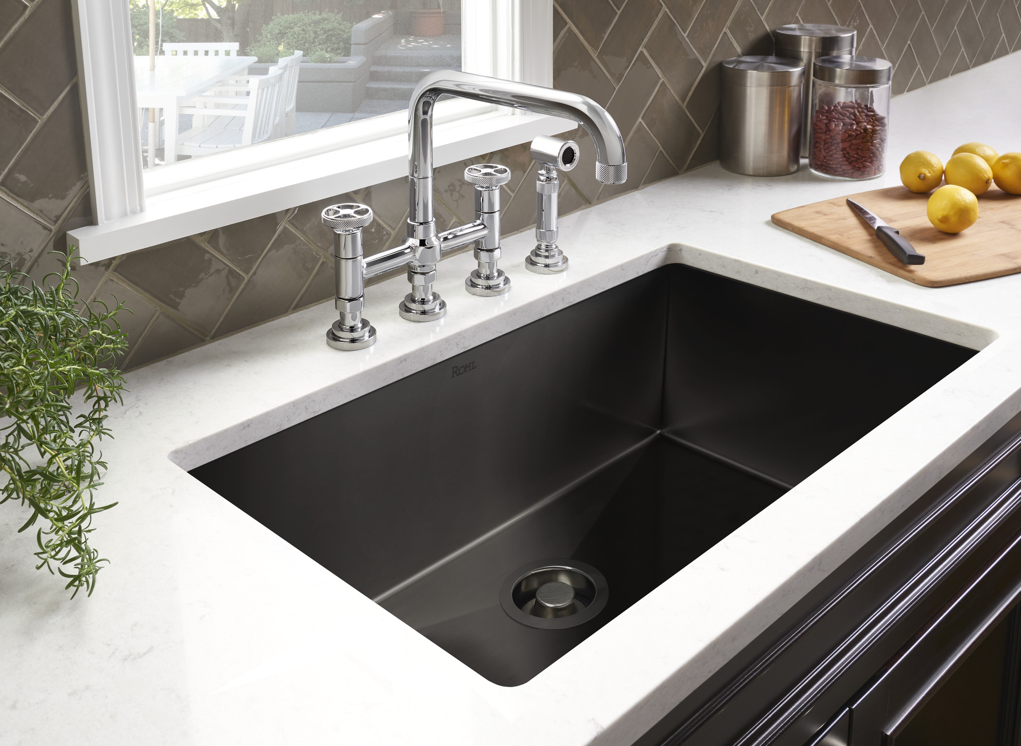 Rohl Adds Black Stainless Steel To