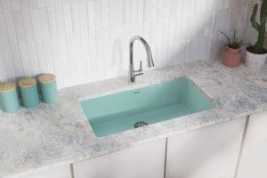 Elkay Quartz Luxe Sink in Mint Creme
